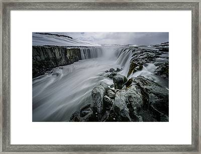 Fury Of Water Framed Print