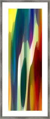 Fury Panoramic Vertical 4 Framed Print by Amy Vangsgard