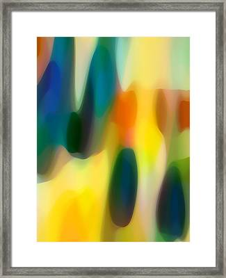 Fury Rain 5 Framed Print by Amy Vangsgard