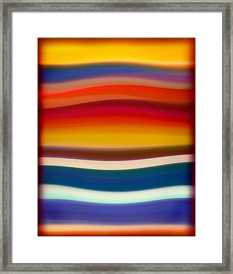 Fury Sea 8 Framed Print by Amy Vangsgard