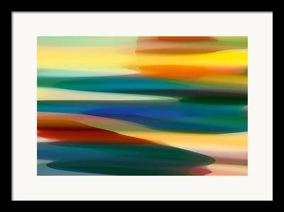 Abstract Movement Paintings Framed Prints