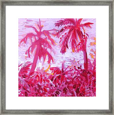 Framed Print featuring the painting Fuschia Landscape by Tilly Strauss