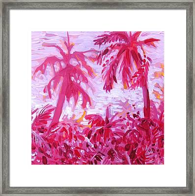 Fuschia Landscape Framed Print