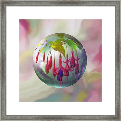 Fuschia Say Framed Print