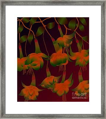 Framed Print featuring the digital art Fuschias by Latha Gokuldas Panicker