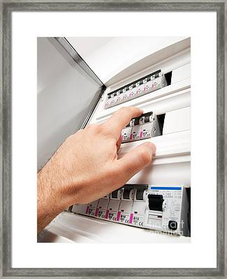 Fuses Control Framed Print
