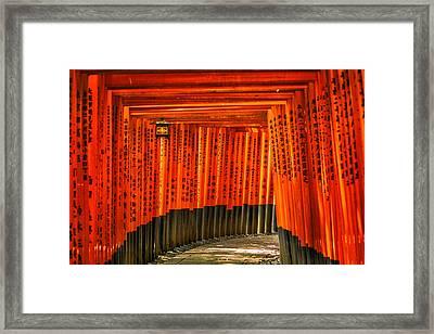 Fushimi Inari Framed Print by Jonah  Anderson