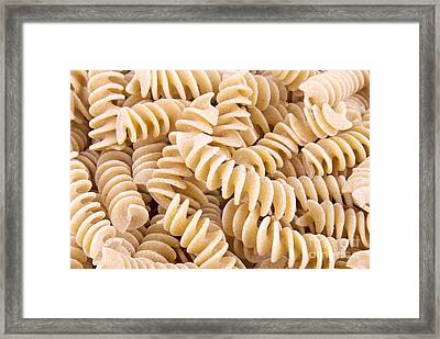 Fusilli Rotini Pasta  Framed Print by Vizual Studio