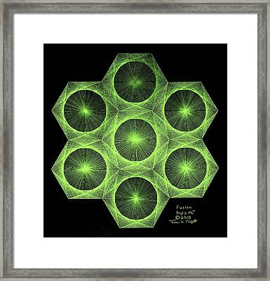 Framed Print featuring the drawing Fusion  by Jason Padgett