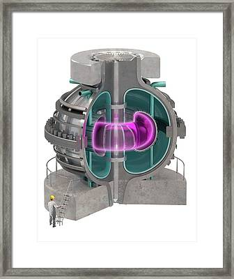 Fusion Reactor Framed Print by Claus Lunau
