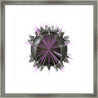 Fusion Reactor, Conceptual Image Framed Print by Science Photo Library