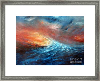 Fusion Framed Print by Valerie Travers
