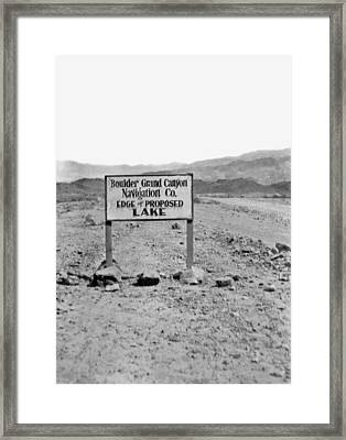 Future Edge Of Lake Meade Framed Print by Underwood Archives