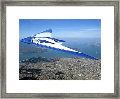 Future Flying Wing Aircraft Framed Print