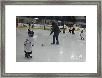 Future Hockey Players Framed Print
