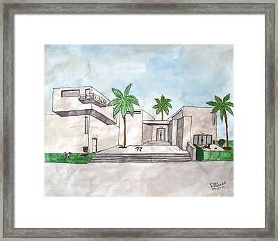Architectural House  Framed Print by Ethan Altshuler