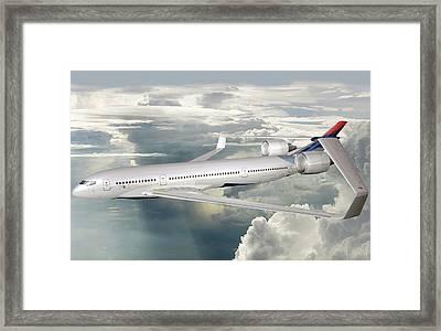 Future Hybrid Aircraft Framed Print by Nasa/lockheed Martin