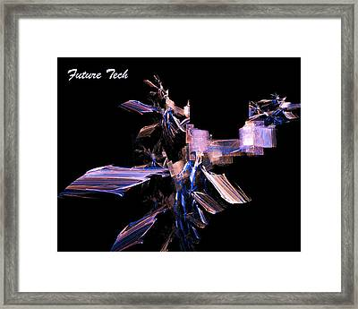 Framed Print featuring the digital art Future Tech by R Thomas Brass