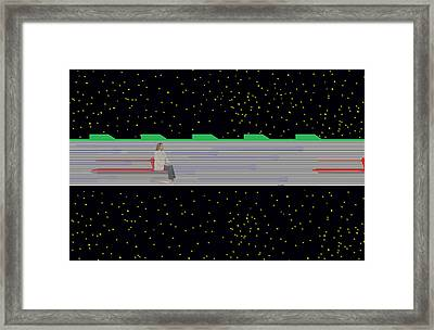 Framed Print featuring the mixed media Future Transit by Bob Pardue