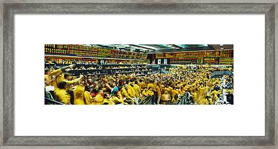 Futures And Options Traders Chicago Framed Print by Panoramic Images