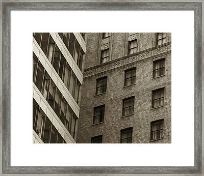 Futures Past - Architecture Abstract  Framed Print by Steven Milner
