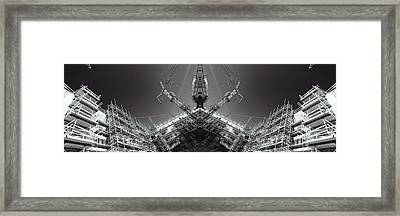 Futuristic Construction And Industry Framed Print