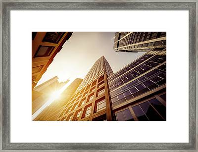 Futuristic Office Buildings Framed Print by Ppampicture