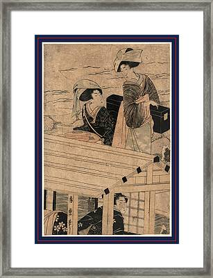 Fuyu No Yanebune Framed Print by Kitagawa, Hidemaro 19th Century, Japanese