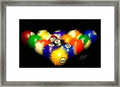 Fuzzy Billiards Framed Print