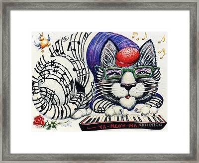 Fuzzy Catterwailen Framed Print by Dee Davis