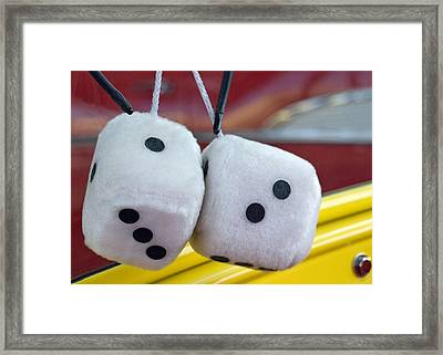 Fuzzy Dice Framed Print by Charlette Miller