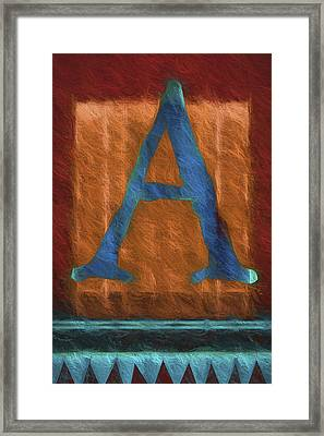 Fuzzy Letter A Framed Print by Carol Leigh