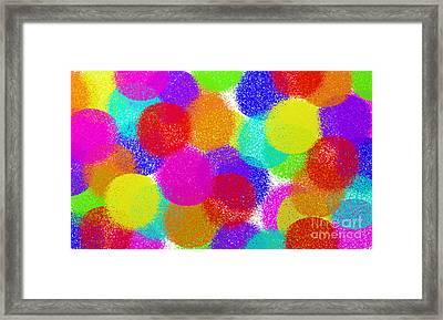 Fuzzy Polka Dots Framed Print