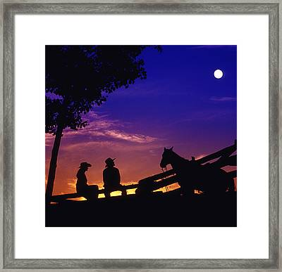 Fv5269, Chris Harris Cowboy And Cowgirl Framed Print by Chris Harris