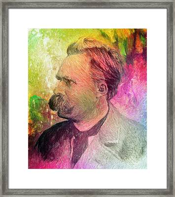 F.w. Nietzsche Framed Print by Taylan Apukovska
