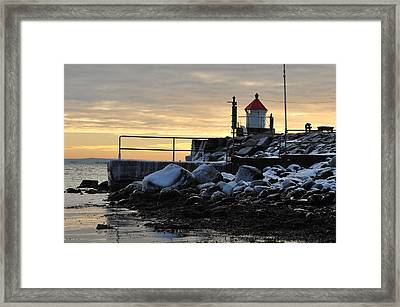 Fyllinga Lighthouse Framed Print by Randi Grace Nilsberg