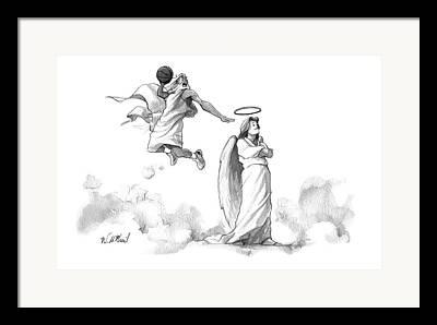 Slam Dunk Drawings Framed Prints