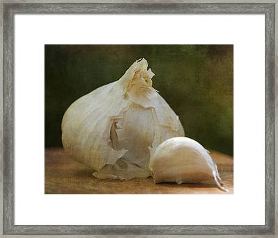 G Is For Garlic Framed Print by Juli Scalzi