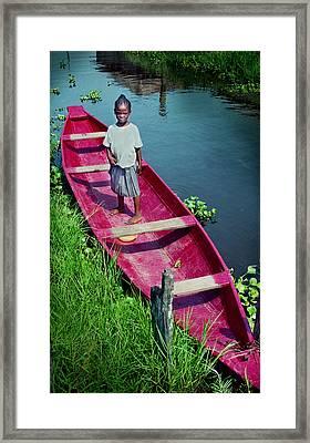 Dad's Canoe Framed Print