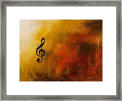 G Symphony Framed Print by Carmen Guedez