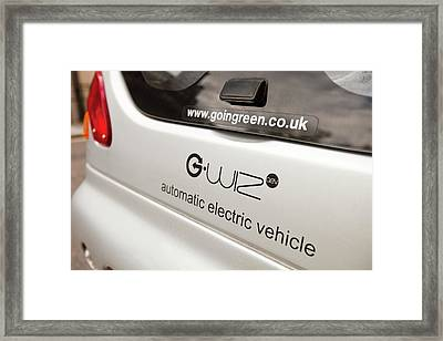 G Wizz Electric Car Framed Print by Ashley Cooper