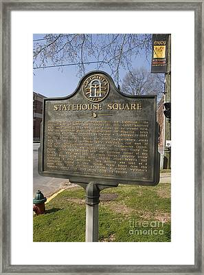 Ga-005-19 Statehouse Square Framed Print