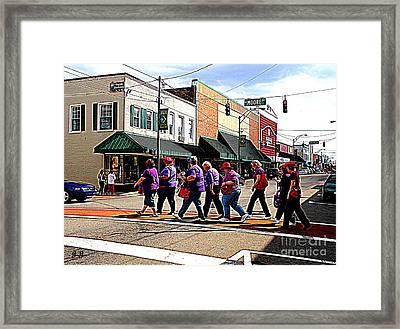 Gabbey Road Framed Print