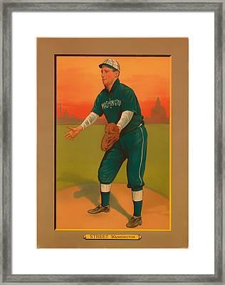 Gabby Street Baseball Card 1911 Framed Print by Mountain Dreams