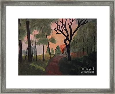 Gabby's Path Watercolor Framed Print