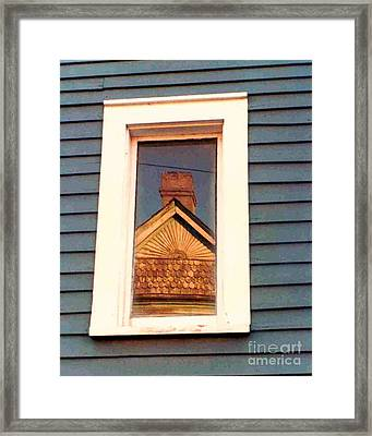 Gable Rays And Scales Lower Garden District New Orleans Louisiana Framed Print by Michael Hoard