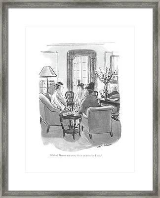 Gabriel Heatter Was Every Bit As Surprised Framed Print by Helen E. Hokinson