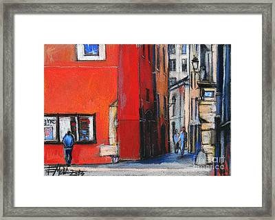Gadagne Museum Facade In Lyon France Framed Print by Mona Edulesco