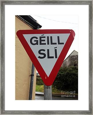 Gaeltacht Traffic Sign Ireland Framed Print
