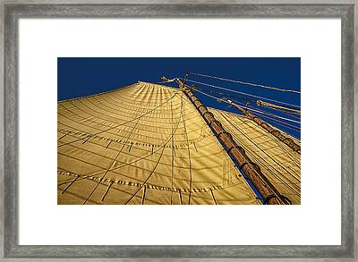 Gaff Rigged Mainsail Framed Print by Marty Saccone